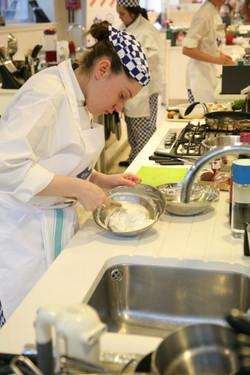 Preparing a Souffle Omelette