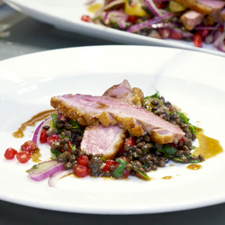 Duck with Warm Pomegranate
