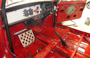 1275 GT Rally Mini in preparation