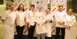Aspiring Student Chef with Judges