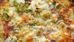 Pizza amb base de coliflor
