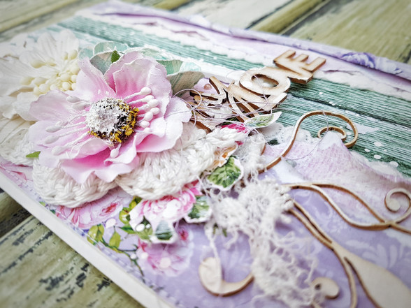 romantic layered card and a tutorial too!