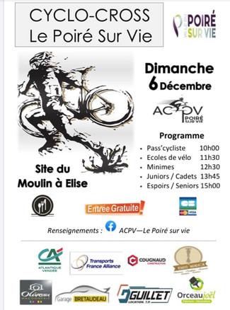 CYCLO-CROSS LE POIRE SUR VIE 06/12/2020