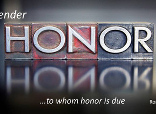 Activate a Culture of Honor