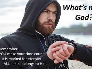 Right now...Ask God, 'What's next?'