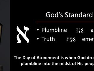 God Drops His Plumb Line