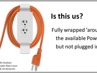 Wrapped around the Power but not plugged in?