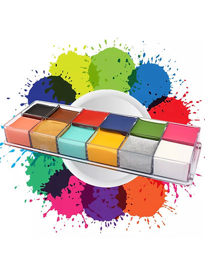 12 Colors Face Painting Cream