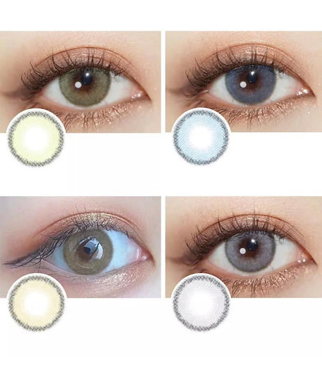 Cosmetic Color Contact Soft -Gray, Green, Blue, Honey