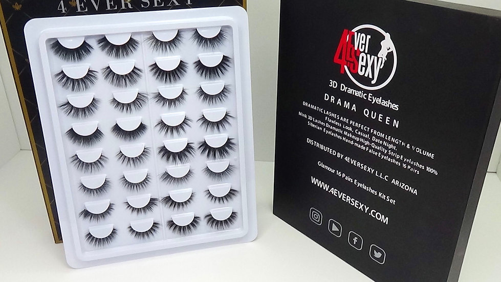 Drama Queen Kit Collection 16 Pair 3D Lashes