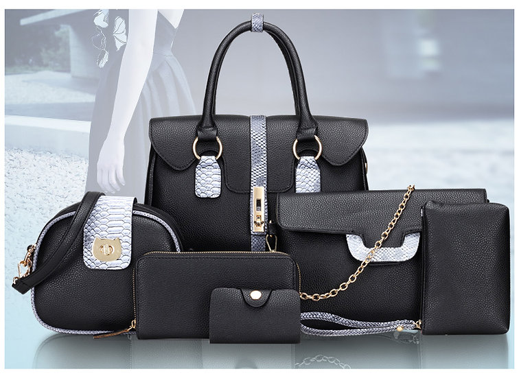 Obssesive Collection Purses Jumble Fashion 6 PCS Set