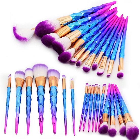 Unicorn Purple  Make Up Brushes + Silicon Pat brushes Cleaner