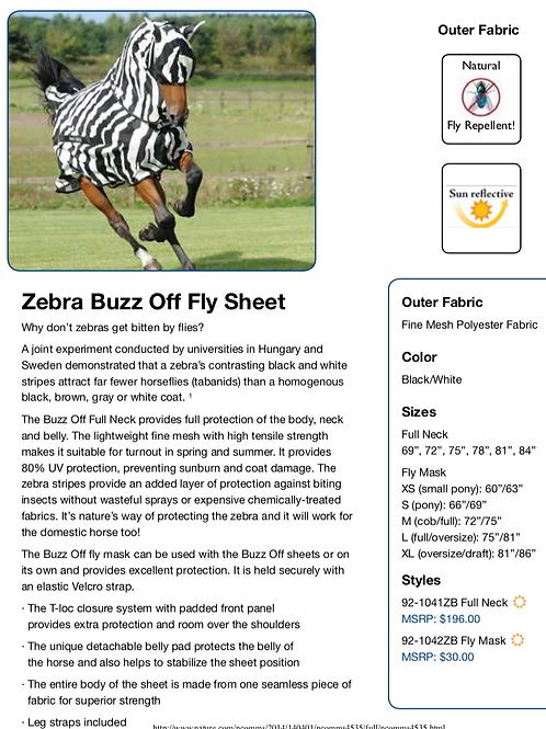 Bucas Buzz off Zebra Fly Sheet