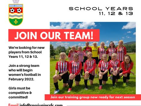 Great opportunity for School Y11, 12 & 13 girls