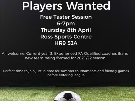 Players wanted for new U8 team
