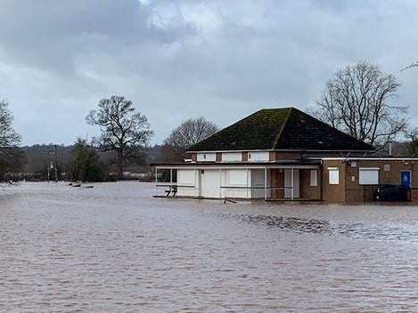 Record level of flooding reaches clubhouse