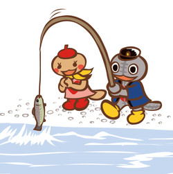 Fishing at Rainbow trout farm