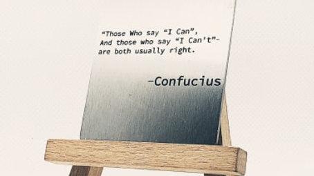 """Confucius says"""""""