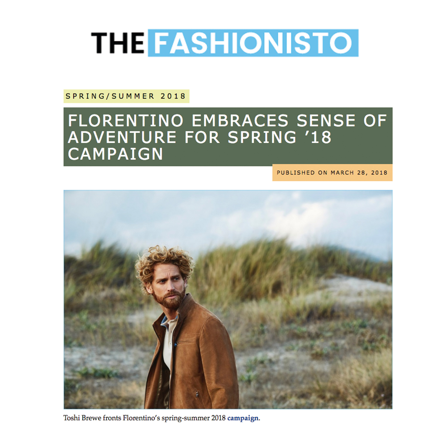Florentino SS18 & The Fashionisto