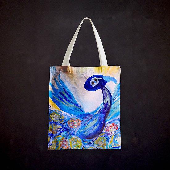 Rachel Delwyn's Peacock Totebag