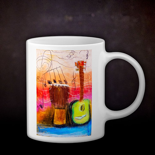 Ashleycje's Guitar Djembe Coffee Mug