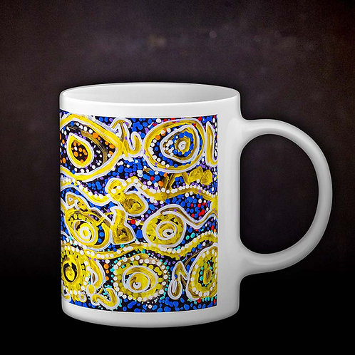 Benjaminc's Australian Dot Art Coffee Mug