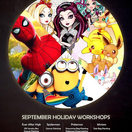 September Holiday Workshops 2017