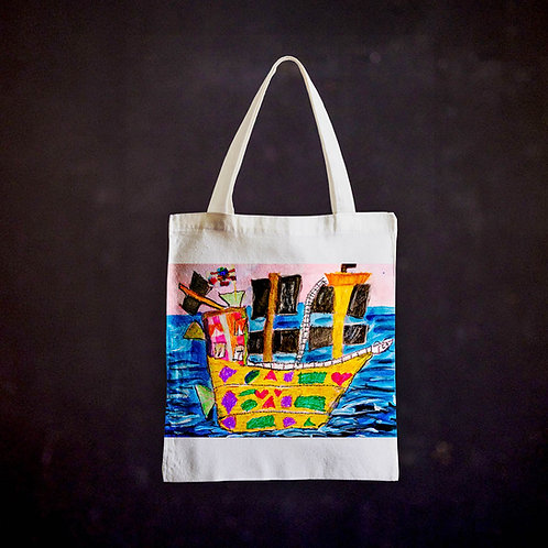 Stacey's Pirate Ship Totebag