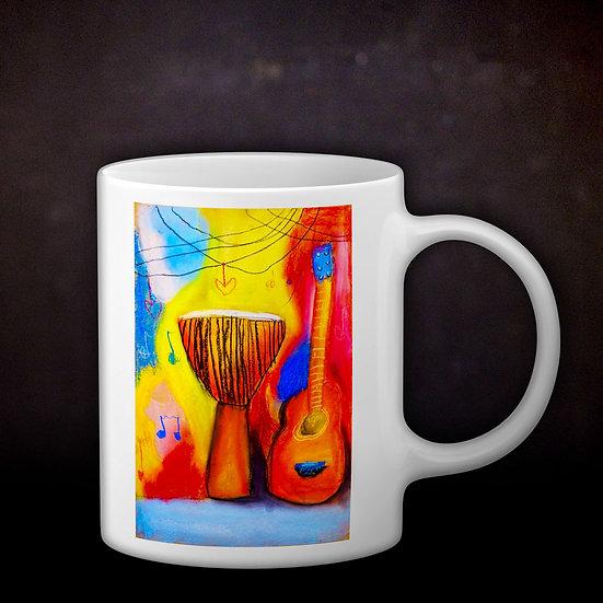 Stacey's Guitar Djembe Coffee Mug