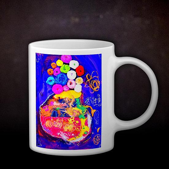 Ashleycje's Vase with Roses Coffee Mug