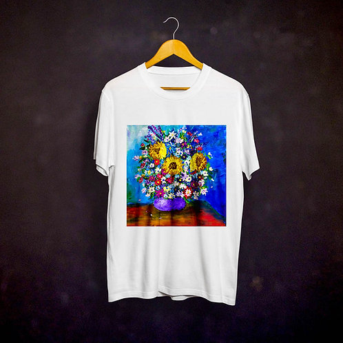 Stacey's Impressionistic Flowers T-shirt