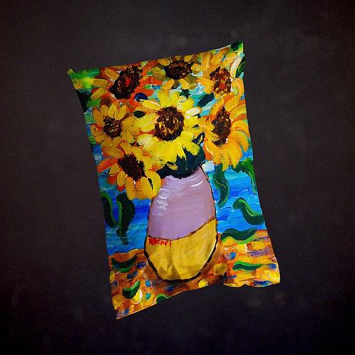 Rachel Delwyn's Van Gogh Sunflowers Pillow