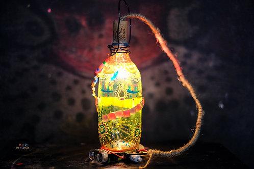 DIY Colourful Glass Lamp