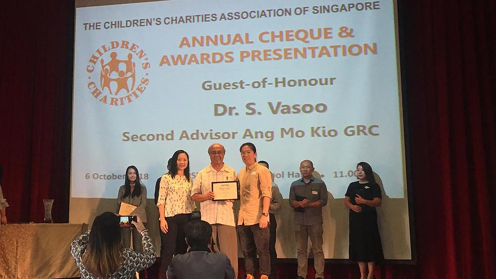 Bronze Award Presentation for Artistori from Dr. S. Vasoo