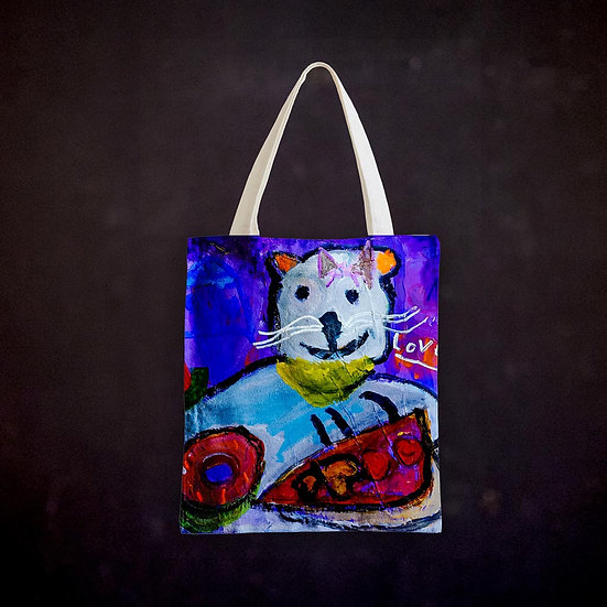 Ashleycje's Greedy Cat Totebag