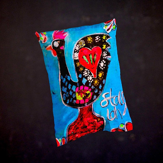 Stacey's Rooster of Barcelos Throw Pillow