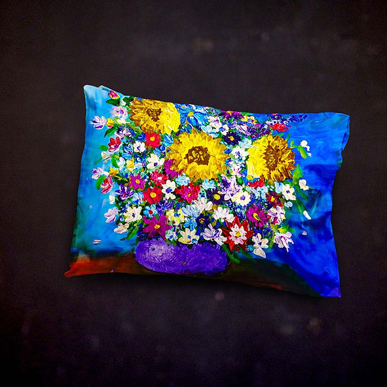 Stacey's Impressionistic Flowers Throw Pillow