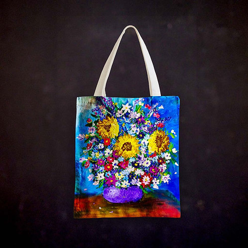 Stacey's Impressionistic Flowers Totebag