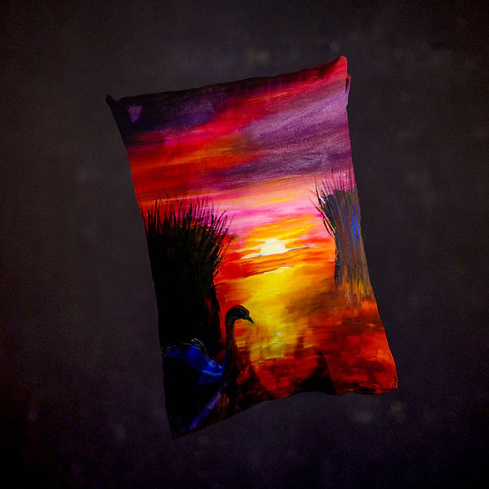Stacey's Scenic Sunset Throw Pillow