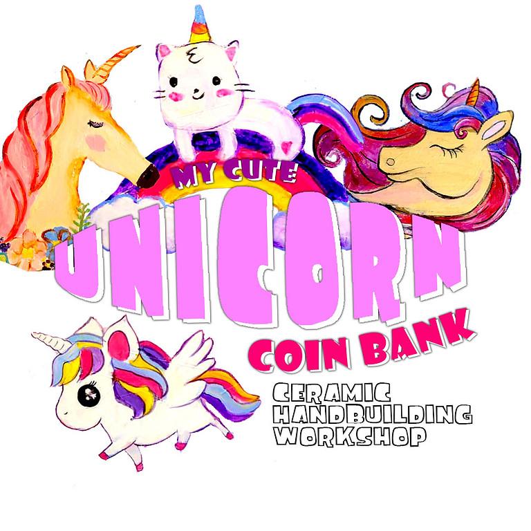 My Cute Unicorn Coin Bank - Ceramic Handbuilding Art Workshop