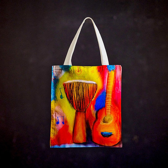 Stacey's Guitar Djembe Totebag