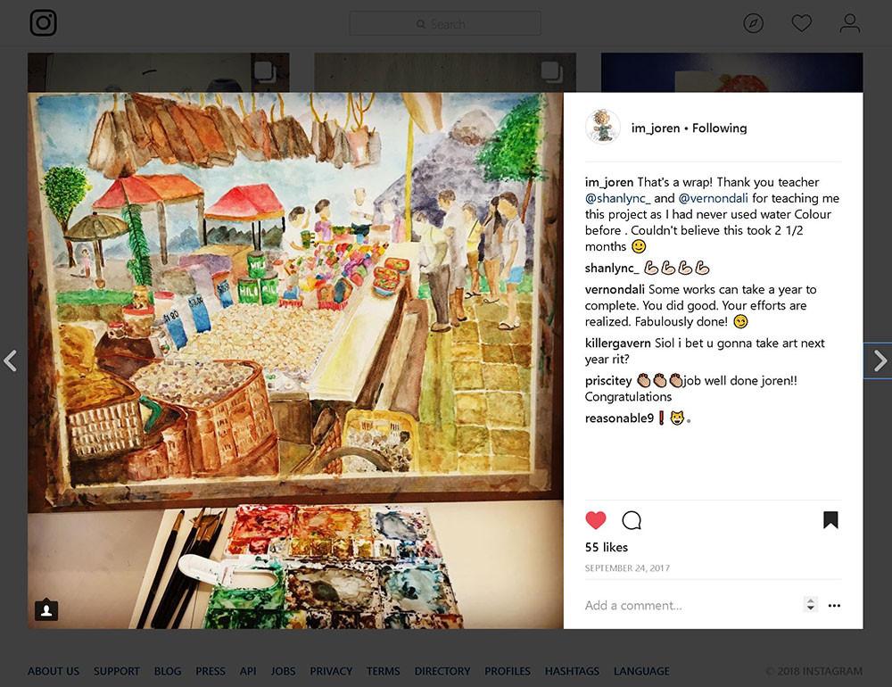 Joren's instagram post