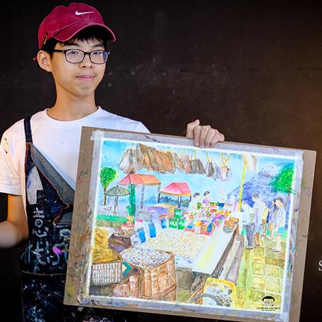 Art Foundation Junior Artist wins International Silver Award