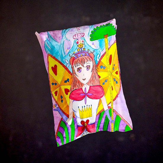 Stacey's Manga Character Throw Pillow