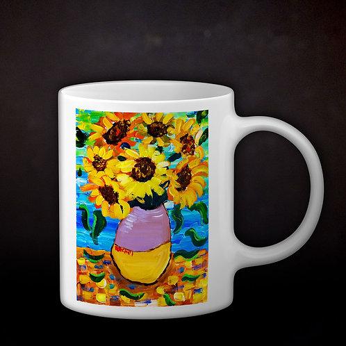 Rachel Delwyn's Van Gogh Sunflowers Coffee Mug