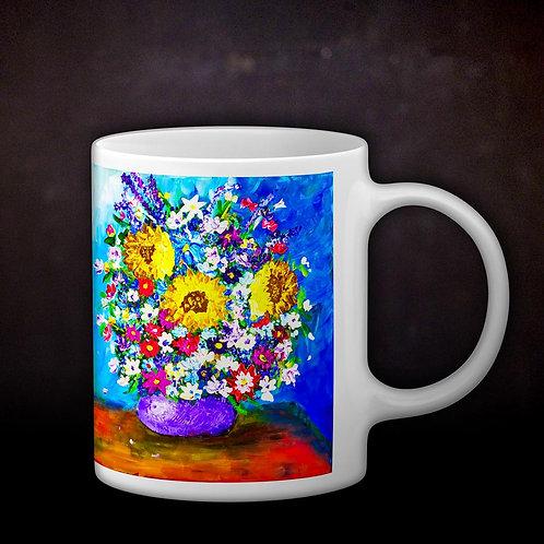 Stacey's Impressionistic Flowers Coffee Mug