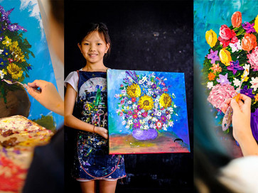 Impressionistic Flowers by Knife