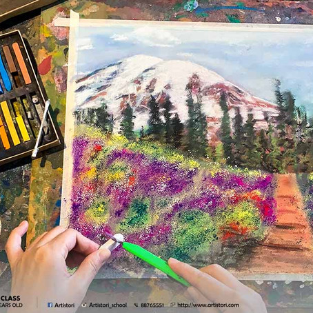 Abstract Scenic Landscape with Pastels