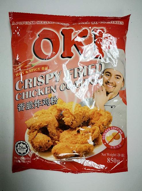 OKI CRISPY FRIED CHICKEN COATING HOT & SPICY 850G