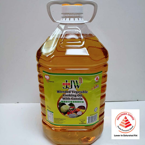 VEGETABLE HEALTHIER OIL (JJW) 5KG (健康植物油)